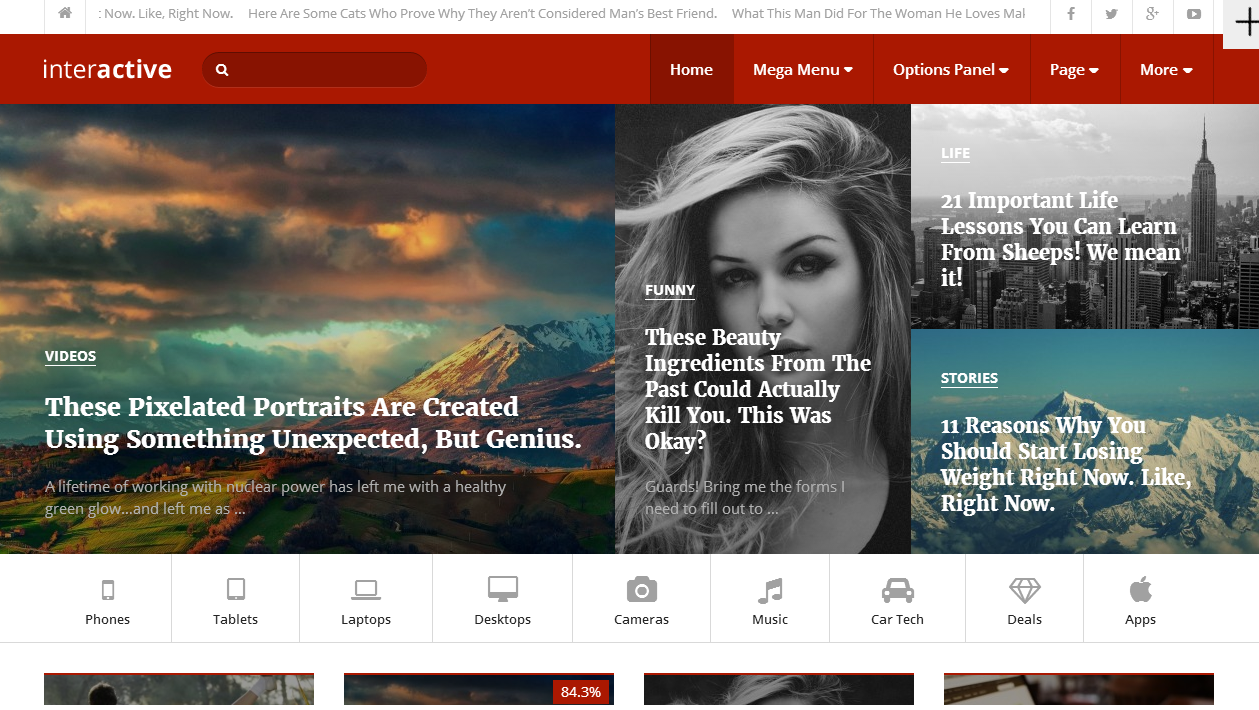 interactive wordpress theme