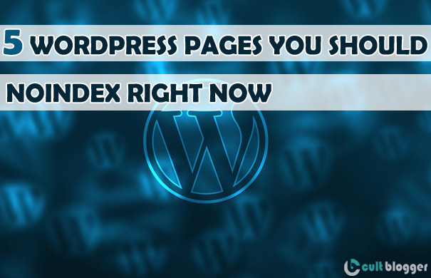 wordpress pages noindex for seo