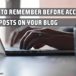 before accepting guest posts