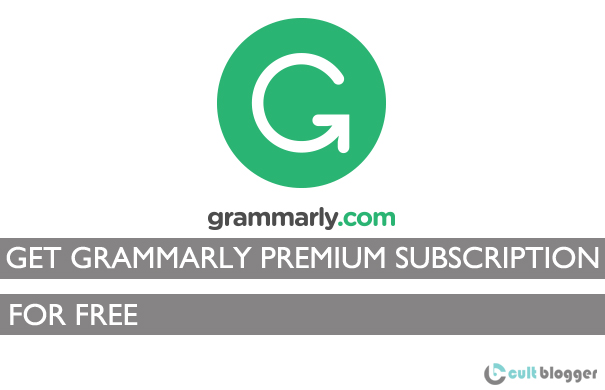 Grammarly free subscription