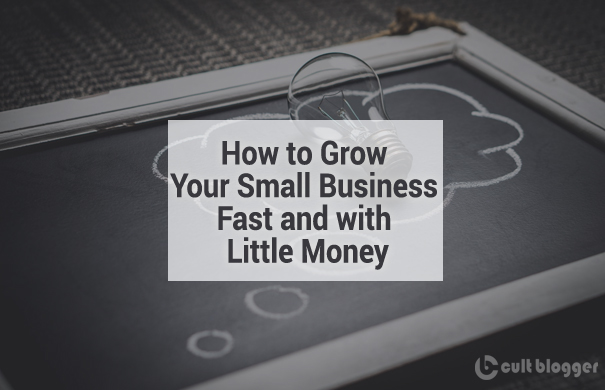 how to grow your business with little money