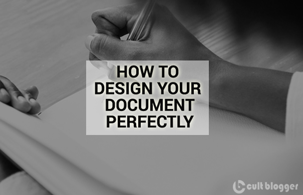 how to design your document